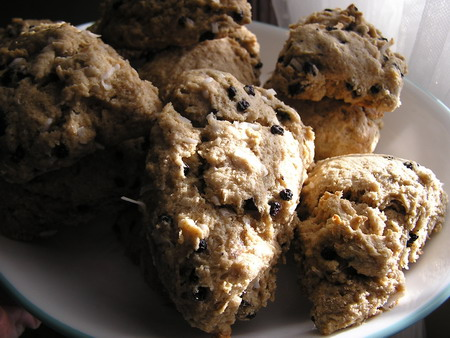 Whole wheat blueberry and coconut scones